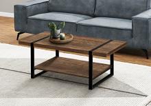 COFFEE TABLE - BROWN RECLAIMED WOOD-LOOK / BLACK METAL