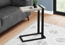 ACCENT TABLE - GREY RECLAIMED WOOD-LOOK / BLACK METAL