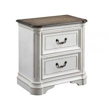 Acme 28723 Astoria grand Florian antique white finish wood nightstand bed side table
