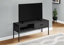 """TV STAND - 48""""L / BLACK / BLACK METAL"""