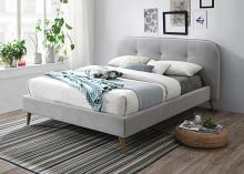Acme 28980Q Corrigan studio graves grey fabric mid century modern style queen bed set