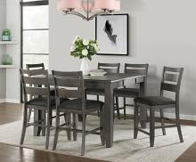 VH-2900-7PC 7 pc Gracie oaks mason living grey finish wood counter height dining table set