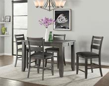 VH-2900-5PC 5 pc Gracie oaks mason living grey finish wood counter height dining table set