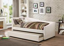 300509 Red barrel studio ludwig dark ivory leatherette daybed with trundle