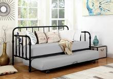 300765 August grove trever black metal finish daybed with slide out trundle