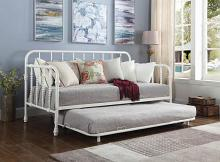 300766 August grove trever white metal finish daybed with slide out trundle