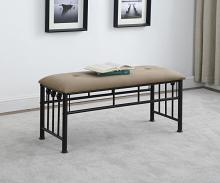 301396 Taylor & olive cinderella espresso finish metal bedroom bench