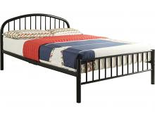 Cailyn youth black metal frame twin size rounded top bed frame set