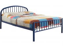 Cailyn youth blue metal frame full size rounded top bed frame set