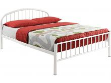 Cailyn youth white metal frame full size rounded top bed frame set
