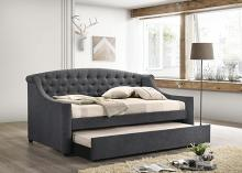 305911 Copper grove milenge grey fabric tufted daybed with trundle