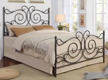 305967Q Stoney creek fairfield curly dark bronze finish metal queen bed