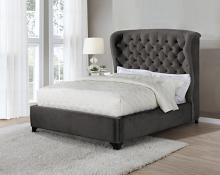 306007Q Canora grey patel graydon chocolate fabric tufted queen bed set