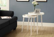 NESTING TABLE - 2PCS SET / WHITE