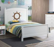 Acme 30830F Farah oak and white finish wood nautical theme full bed
