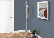 """COAT RACK - 72""""H / GREY WOOD TRADITIONAL STYLE"""