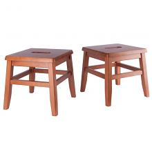 33210 Kaya 2-Pc Conductor Stool Set, Teak