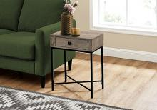 """ACCENT TABLE - 22""""H / DARK TAUPE / BLACK METAL"""