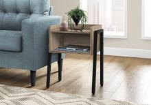 """ACCENT TABLE - 23""""H / DARK TAUPE / BLACK METAL"""