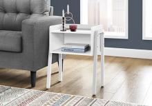 """ACCENT TABLE - 23""""H / WHITE / WHITE METAL"""