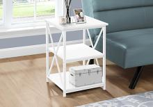 """ACCENT TABLE - 26""""H / WHITE/ WHITE METAL"""