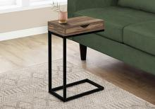 ACCENT TABLE - BROWN RECLAIMED-LOOK / BLACK METAL