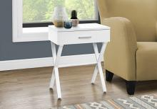 """ACCENT TABLE - 24""""H / WHITE / WHITE METAL"""
