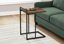 """ACCENT TABLE - 25""""H / BROWN RECLAIMED WOOD / BLACK METAL"""