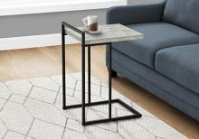 """ACCENT TABLE - 25""""H / GREY RECLAIMED WOOD / BLACK METAL"""