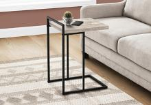 """ACCENT TABLE - 25""""H / TAUPE RECLAIMED WOOD / BLACK METAL"""