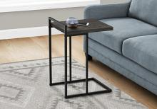 """ACCENT TABLE - 25""""H / BLACK RECLAIMED WOOD / BLACK METAL"""