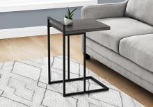 """ACCENT TABLE - 25""""H / GREY / BLACK METAL"""