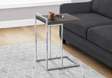 """ACCENT TABLE - 25""""H / GREY / CHROME METAL"""