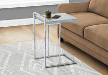 """ACCENT TABLE - 25""""H / GREY CEMENT / CHROME METAL"""