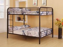 Acme 37433 Zoomie kids laffey bristol dark brown finish metal frame full over full bunk bed set