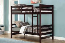 Acme 37775 Harriet bee beeching ronnie espresso finish wood twin over twin bunk bed set