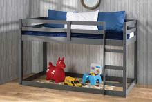 Acme 38180 Harriet bee kohen gaston gray finish wood twin loft bed with lower play area