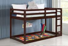 Acme 38185 Harriet bee kohen gaston espresso finish wood twin loft bed with lower play area