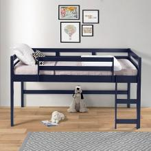 Acme 38260 Harriet bee rohan navy blue finish wood playhouse style twin loft bed