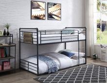 Acme 38285 Wildon home cordelia twin over twin low rise sandy black dark bronze hand rubbed finish tubular metal bunk bed