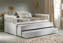 Acme 39080-83 Red barrel studio juliann cominia white finish wood twin day bed with double pull out twin trundles