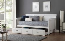 Acme 39100-02 Winston porter seper bailee white finish wood twin day bed with pull out twin trundle