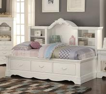 Acme 39150 Estrella white finish wood twin day bed with pull out storage drawers