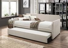 Acme 39190 Jagger beige fabric twin day bed with trundle