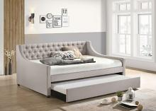Acme 39385 Alcott hill armijo lianna fog fabric full size day bed with pull out trundle