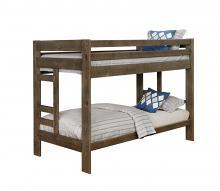 400831 Harriet bee lollis wrangle hill gunsmoke rustic finish solid pine wood frame twin over twin bunk bed
