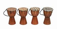 Varnished wood drum 4 asst