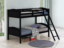 405053BLK Taylor & olive mayapple black finish twin over twin bunk bed set