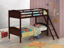 405053BRN Taylor & olive mayapple espresso finish twin over twin bunk bed set