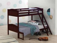 405054BRN Taylor & olive mayapple espresso finish twin over full bunk bed set